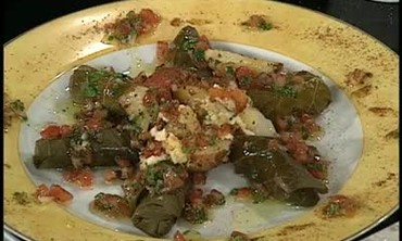 Stuffed Grape Leaves with Rice and Feta