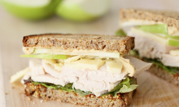 Turkey, Cheddar, and Green Apple Sandwich