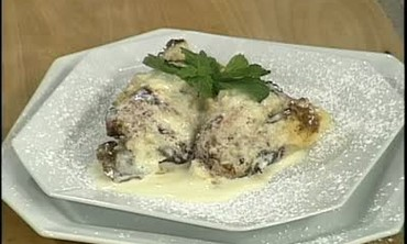 Bread Pudding with Bananas and Chocolate