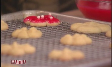 Cookie-Press Cookies with Martha Stewart