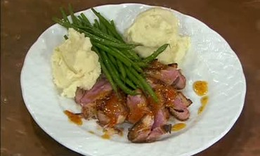 Duck Breasts with Apricot Orange Sauce