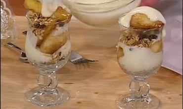 Granola Yogurt Parfait with Seared Pears