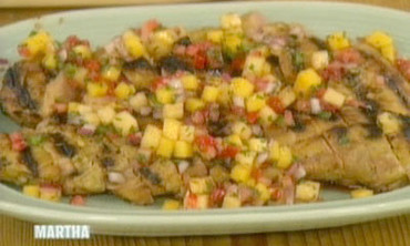 Grilled Pork Tenderloin with Fruit Salsa