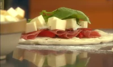 Pizza ai Funghi and Genoa Salami Calzone