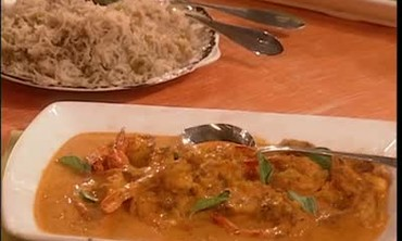 Shrimp With Basmati Rice And Curry Sauce