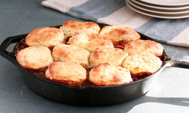 Turkey Pot Pie with Sage Biscuit Topping