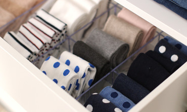organize sock drawer