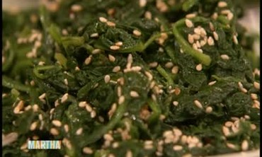 Blanched Spinach with Sesame Seeds Part 2