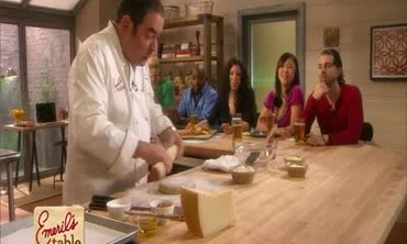 Emeril Lagasse prepares Parmesan Crackers