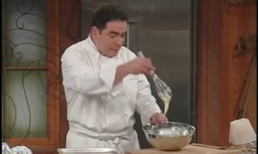 Emeril Lagasse prepares Pirouline Cookies