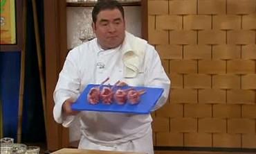 Grilled Lamb Chops and Eggplant Casserole