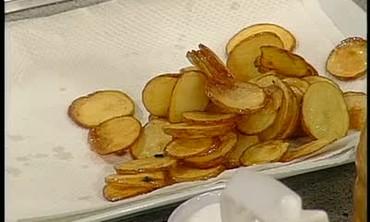 Homemade Potato Chips and Mango Ice Cream
