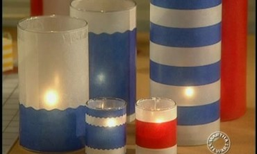 How to Make Glass Votives for July Fourth