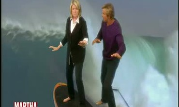 Martha Learns to Surf with Laird Hamilton