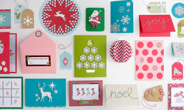Martha Stewart Crafts Holiday Card Making