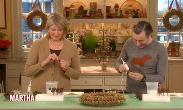 Martha Stewart Makes a Sweet-Gum Wreath