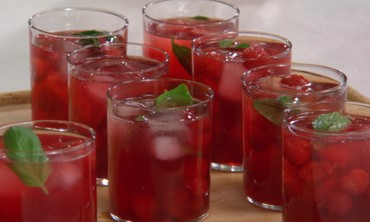 Martha Stewart's Sour Cherry Mojito Recipe