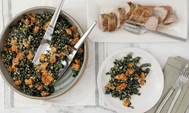 Pork Tenderloin with Kale Salad