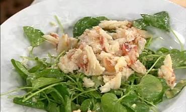 Potato and Leek Soup and Watercress Salad