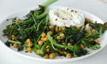 Roasted Broccoli Rabe with Ricotta Spread