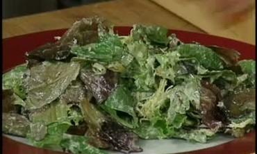 Roasted Garlic Salad with Garlic Dressing