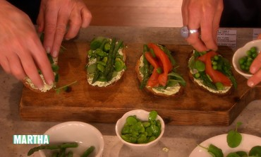 Spring Veggie and Smoked Salmon Tartine