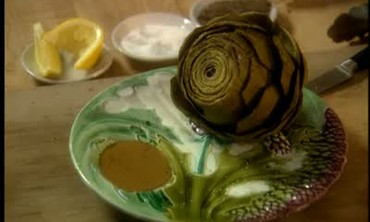 Steamed Giant Globe Artichokes with Lemon