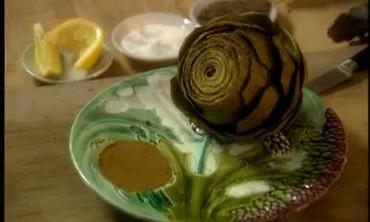 Steamed Giant Globe Artichokes with Lemon