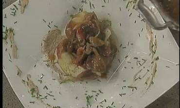 Steamed Potato with Truffle Mushroom Stew