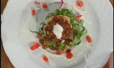 Vegetarian Chili Masa Cakes Stacks Recipe
