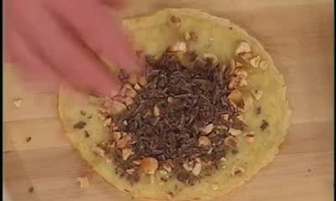 Bernaise Sauce and Peanut Chocolate Crepes