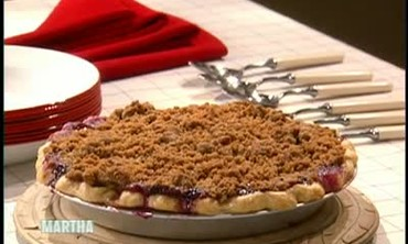 Chef Rebecca Charles' Blueberry Crumble Pie