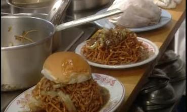 Chow Mein Sandwiches at MeeSums Restaurant