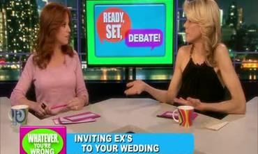 Debates: Exes at Weddings and Banned Burkas