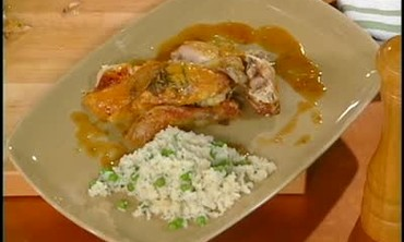 Emeril Makes Pan Sauce from Chicken Juices