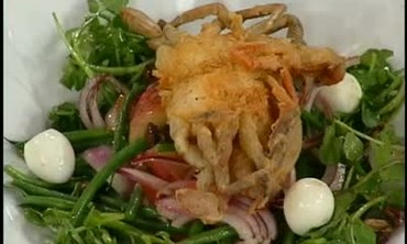 Fried Soft Shell Crab with Nicoise Salad