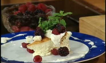 Goat Cheese Cake with Graham Cracker Crust