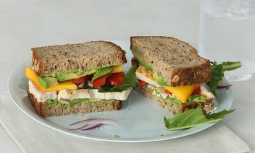 Grilled Chicken, Mango and Avocado Sandwich
