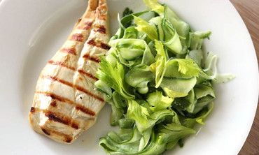 Grilled Chicken with Shaved Cucumber Salad