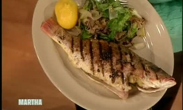 Grilled Whole Snapper with Escarole, Part 2
