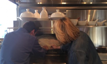It Takes Two To Put a Turkey Into the Oven