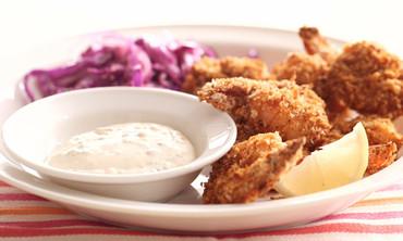 Oven-Baked Crispy Shrimp with Cabbage Slaw