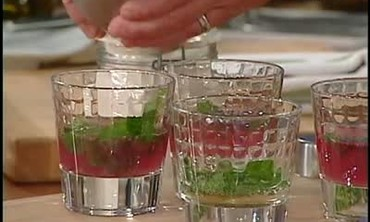 Pomegranate Mojito with Vanilla Bean Sugar