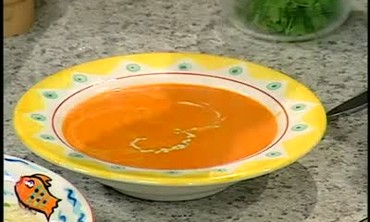 Roasted Red Pepper Soup with Chicken Stock