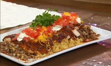 Broiled Black Sea Bass with Enchilada Sauce