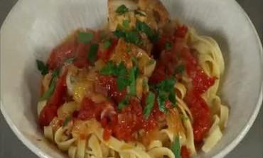 Chicken Cacciatore with Tagliatelle Noodles