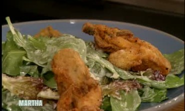 Fried Oyster Salad with Buttermilk Dressing