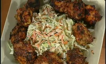 Marinated Honey Chicken with Cole Slaw, Pt 2
