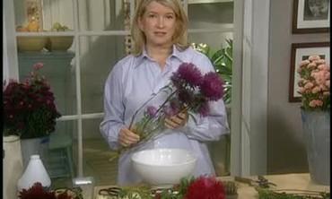 Martha Stewart Arranges Late Season Flowers