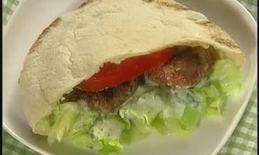 Mini Greek Lamb Burgers with Tzatziki Sauce